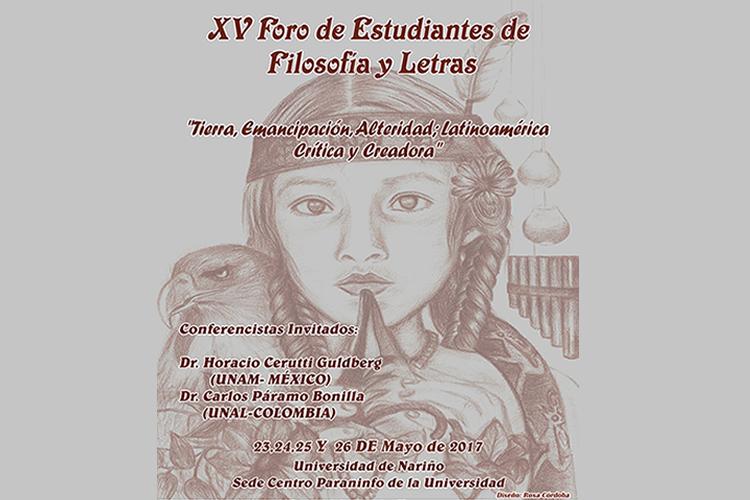 XV Foro de Estudiantes de Filosofía y Letras