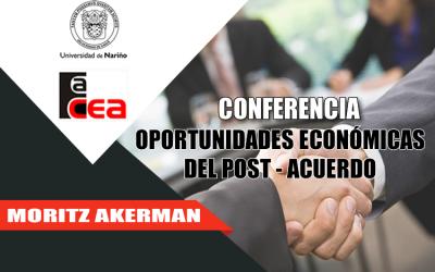 Conversatorio con Moritz Akerman en la Universidad de Nariño convocado por la FACEA